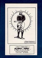 Sports Stuff postcard #5 BOBBY LOWE, Boston Beaneaters (Braves) (1970 SCFC)VG/EX