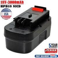 3.0Ah for Black and Decker HPB18 18V Battery HPB18-OPE 244760-00 Firestorm A18