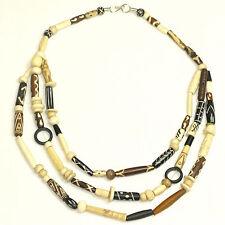 Para Mujer Con Cuentas De Hueso Collar-Navajo cuentas de hueso de varios niveles de la joyería de moda