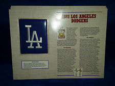 Willabee and Ward Cooperstown Collection Patch 1988 LA Dodgers