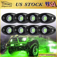 8 Pods Green Led Rock Lights Offroad Atv Truck Under body Light Under Car Light