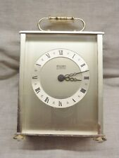 lovely 1970s carriage desk clock staiger chrometron quartz working with battery