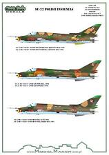"""Model Maker Decals 1/72 SUKHOI Su-22 """"FITTER"""" Polish Air Force Fighter"""
