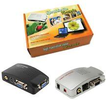 CONVERTITORE DA VGA A RCA S-VIDEO BNC SCART PC COMPUTER NOTEBOOK ADATTATORE DVR