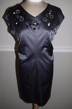 Robert Rodriguez grey  sequin neckline shift dress size 4  (DR200)