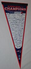 Superbowl 51 Champions New England Patriots Pennant Team Roster Signature