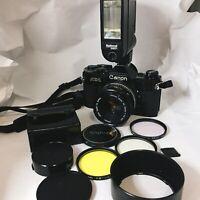 Canon AE-1 w/ Canon FD 50mm f/1.8 S.C. SC Lens SLR 35mm Film Camera from Japan