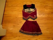 "3pc Adult M TALONS High School Cheerleader Uniform Outfit Costume Girls 34"" Top"
