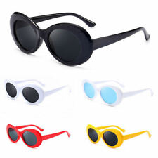 bbda07a641a Kurt Cobain White Clout Goggles Sunglasses Rapper Oval Shades Fancy Glasses  2018