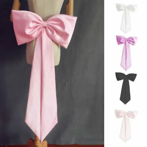 Detachable Satin Bow Knots Party Dress Removable Knots Ball Gowns With Ribbon