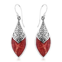 Sponge Coral 925 Silver Fashion Drop Dangle Earrings Jewelry Gift for Women