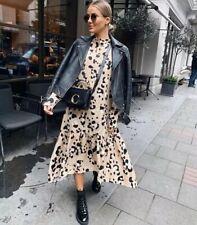 H&M TREND LONG TWILL DRESS ANIMAL LEOPARD PATTERN SIZE M BNWT  BLOGGERS FAVOURIT