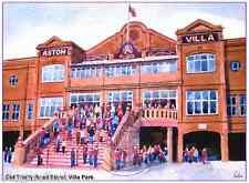 "OLD TRINITY ROAD STAND VILLA PARK ASTON ARTISTS PRINT GREETINGS CARD 8""x 6"""