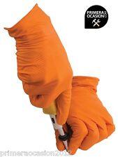 Guantes mecanico nitrilo naranjas  talla L, tienda Primeraocasion