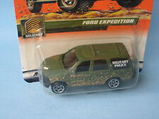 Matchbox Ford Expedition Military Police Olive Green Toy Model 70mm in USA BP