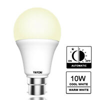 YAYZA! IP44 B22/E27 10W Dusk To Dawn Photocell Sensor LED Light Bulb 100W 1000lm