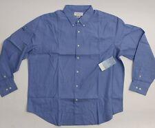 Insect Shield Repellent Mens Blue LS Cotton Oxford Shirt SZ 2XL ~ New!