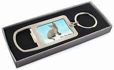 Devon Rex Kitten 'Love You Mum' Chrome Metal Bottle Opener Keyring, AC-175lymMBO