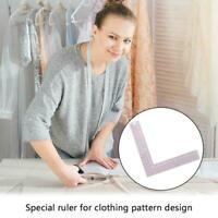 Plastic L-Square Shape Ruler Sewing Measure ruler Professional DIY Tools P0J4