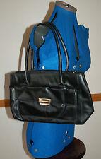 NEW Medium-Small Black Hand Shoulder Bag Pocket Real Leather Work Smart