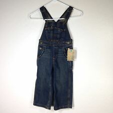 Toddler OshKosh Genuine Denim Jean Overalls Size 3T Carpenter Style Dark