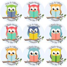 144 Reading Owls 30 mm Reward Stickers for School Teachers, Parents, Nursery