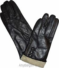 Woman's Gloves (M) Leather Gloves Hand Warmer, Winter Ladies' Dress Gloves #18N