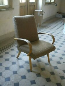Czech Vintage Lounge Chair By Architect Jaroslav Smidek model 53