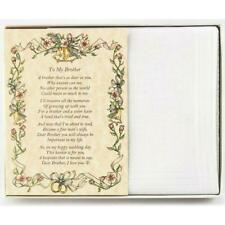 From the Bride to her Brother Wedding Handkerchief