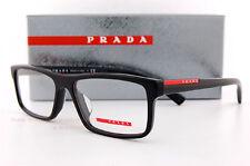 New Prada Sport Linea Rossa Eyeglass Frames PS 04G 04GV 1AB BLACK 55mm Men Women