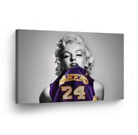 Marilyn Monroe Canvas Print in Lakers Jersey Decorative Modern Wall Art Decor