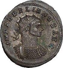 Aurelian receiving globe from Jupiter Ancient Roman Coin Jupiter Cult  i42117