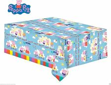 PEPPA PIG TABLE COVER CARNIVAL BIRTHDAY PARTY KIDS- PEPPA & GEORGE 138cm x 183cm