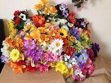 12x Artificial Spring Flowers Joblot Fake Garden Baskets Clearance Bunch Bush