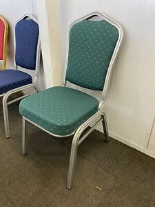 Green Banquet chairs With Silver Frame -  Banqueting Chairs