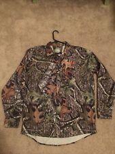 Under Armour Hunting Camo Long Sleeve Shirt Mens XL Loose Mossy Oak All Season