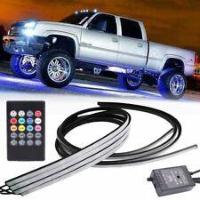 4Pcs 8 Color Rgb Led Strip Neon Light Kit Car Under Body Underglow Tube Bar Kit