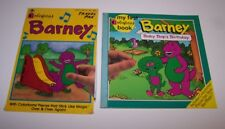 Barney Colorforms Pieces Travel Pak  And Barney Baby Bop's Birthday Book 3+ 1993