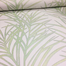 Floral Leaf Wallpaper Flower Palm Tree White & Green Paste The Wall Erismann