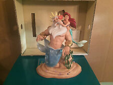 """WDCC The Little Mermaid - King Triton & Ariel """"Morning, Daddy!"""" New in Box"""