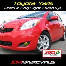 Toyota Yaris Yellow Fog Light Overlays TINT Vinyl Film Wrap JDM EDM EURO Smoked
