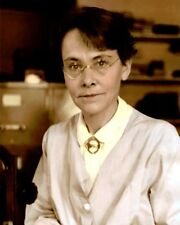"BARBARA McCLINTOCK PHD AMERICAN SCIENTIST 8x10"" HAND COLOR TINTED PHOTOGRAPH"