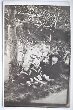 1924 Estonia Happy Mum w Two Fascinating Twins Real Pho