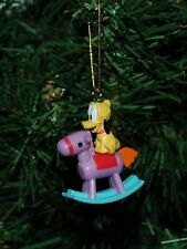 Mickey Mouse, Dog, Pluto On A Rocking Horse Mini Christmas Ornament