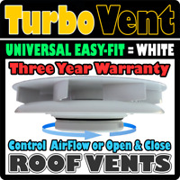 4x4 Vehicle Van Wind Driven Low Profile Air Rotary Roof Vent WHITE Land Rover