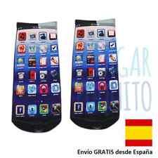 Calcetines iconos app iphone ipod ios movil medias tobillo mujer tobillero bajo