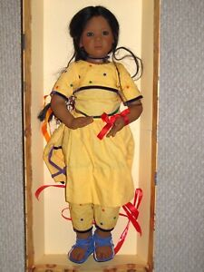 """Annette Himstedt - Anila Girl from India 30"""" Life-Size Collector Doll"""