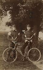 soldier group Signallers with bicycles & semaphore flags Somerset Light Infantry