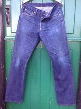 "vintage Lutece buckle back selvage blue jeans  W30"" L32"""