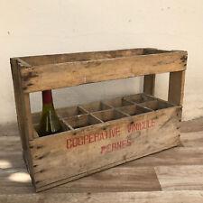 10 vintage Bottle French Wood Wine Box Case Rack Carrier PErnes 0210175